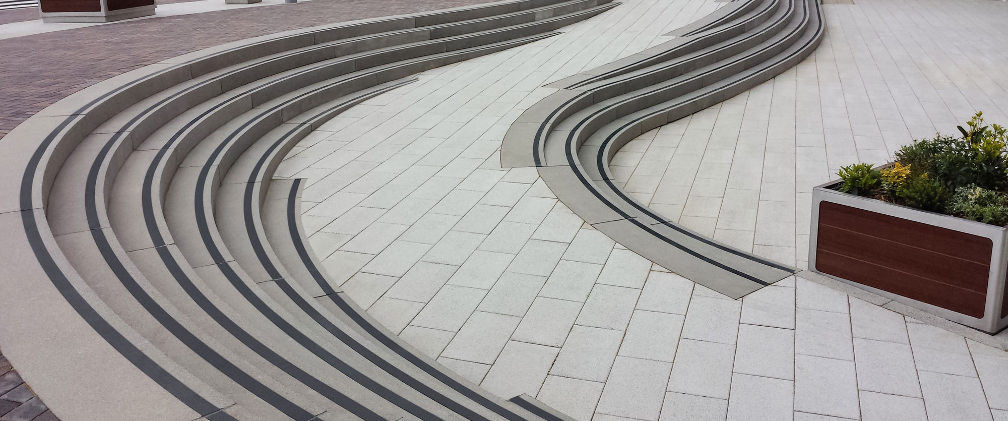 Stepline Original showing curve feature Aspect Leisure Park Project